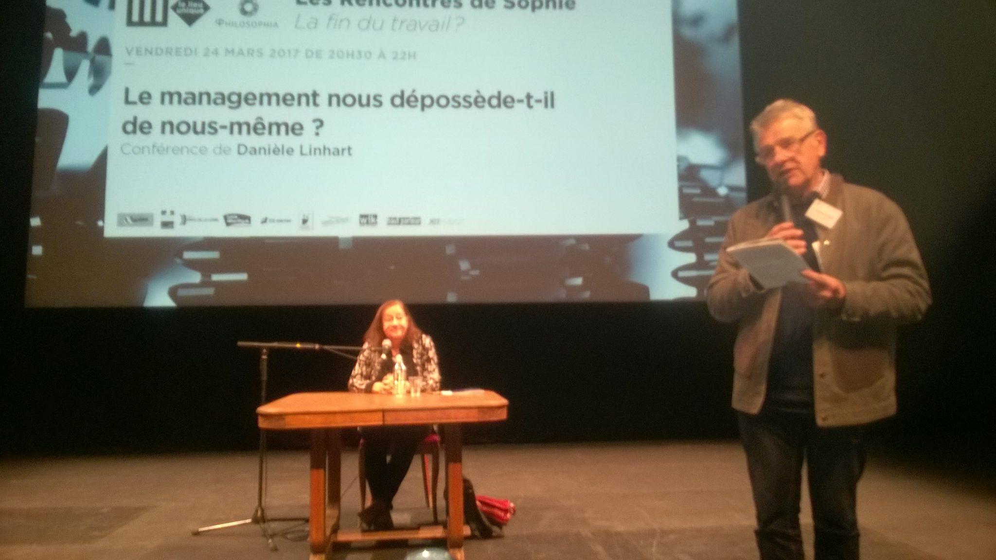 Rencontres de sophie 24 mars 2017 Lieu Uniuqe de Nantes  http://philosophia.fr/activites-rencontres/rds-les-rencontres-de-sophie/la-fin-du-travail-2017/