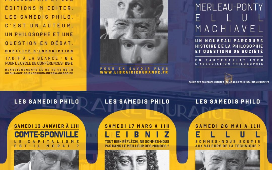 Les «Samedis Philo» de la Libraire Durance de Nantes