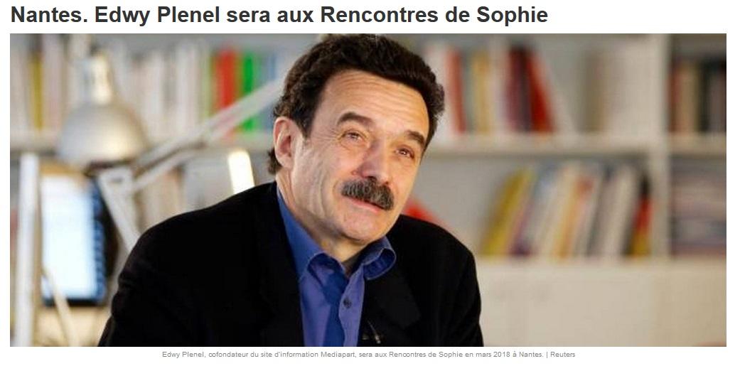 Revue de presse Rencontres de Sophie – Ouest- France 05/03/2018