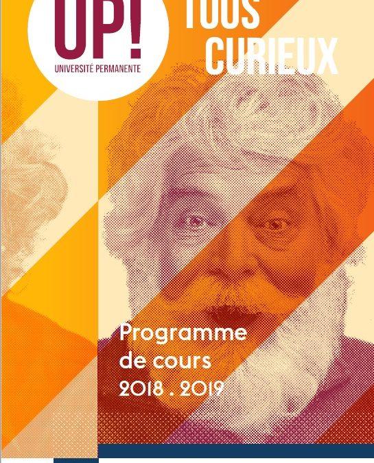 Programme 2018-2019 des cours de philosophie proposés à L'Université Permanente de Nantes en partenariat avec l'association Philosophia LES 2 DERNIÈRES DATES !