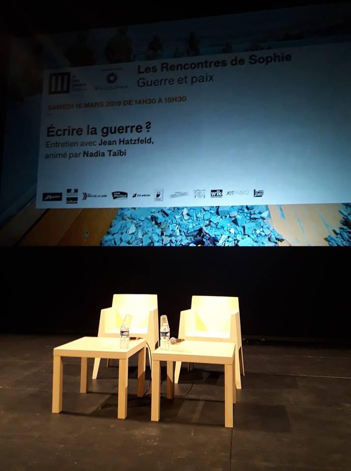 Rencontre sde Sophie Guerre et paix Philosophia Lieu Unique de Nantes Ecrire la guerre