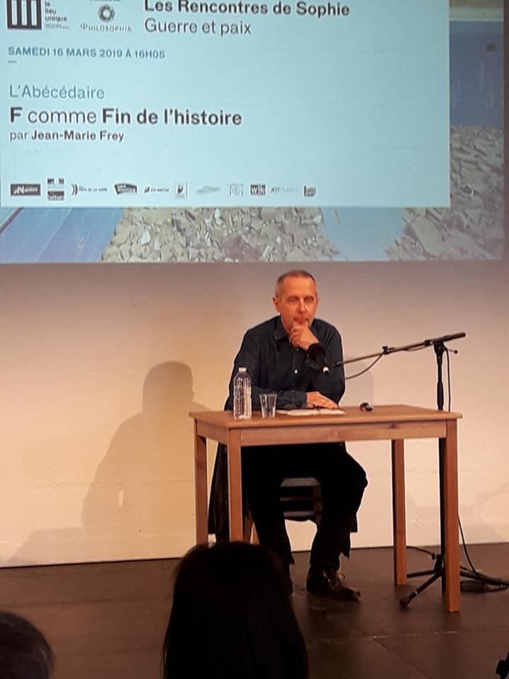 Rencontre sde Sophie Guerre et paix Philosophia Lieu Unique de Nantes frey