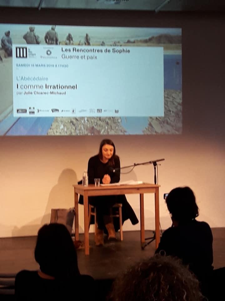 Rencontre sde Sophie Guerre et paix Philosophia Lieu Unique de Nantes julie cloarec