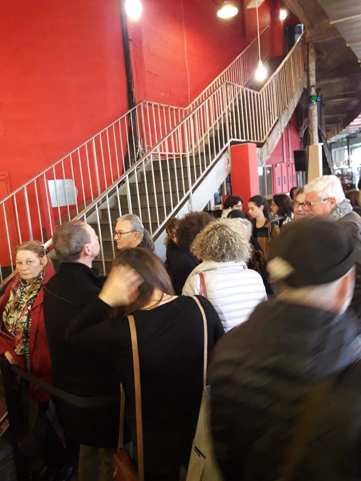 Rencontre sde Sophie Guerre et paix Philosophia Lieu Unique de Nantes lieu unique escalier