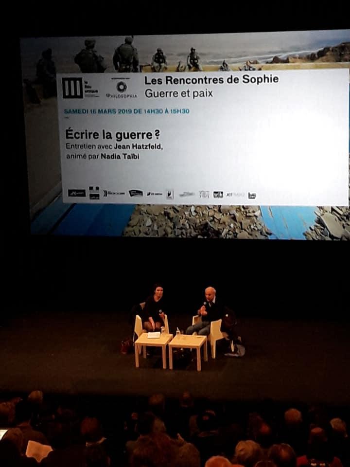 Rencontre sde Sophie Guerre et paix Philosophia Lieu Unique de Nantes taibi hatzfeld