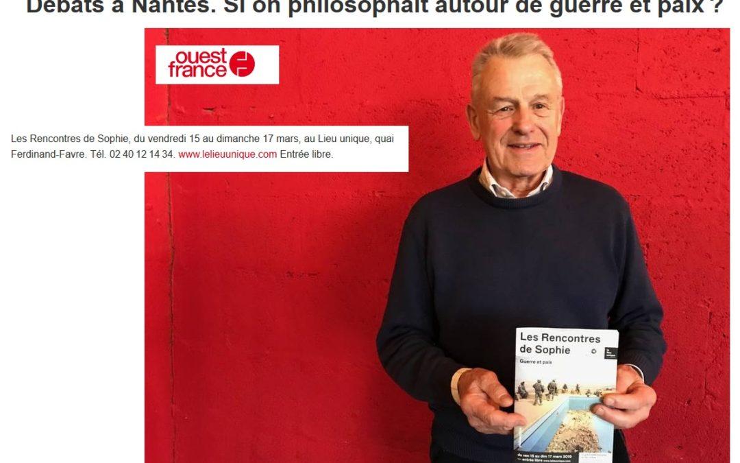 Ouest-France vous encourage chaleureusement à venir ce week-end philosopher ensemble au Lieu Unique de Nantes