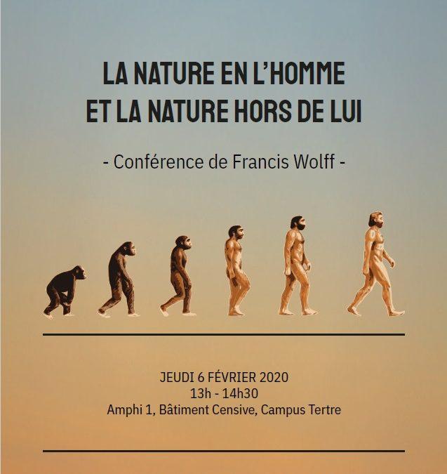 Sophie à la Fac,  « La nature en l'homme et la nature hors de l'homme », Francis Wolff