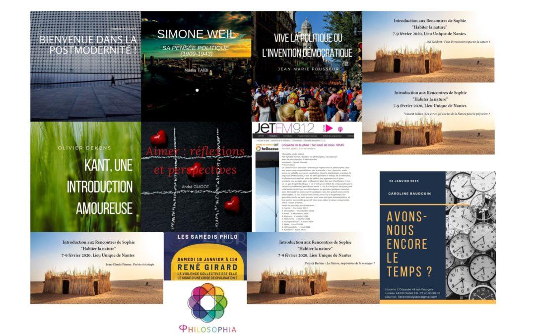 Programme des activités philo de janvier