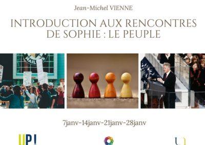 Jean-Michel VIENNE Introduction aux Rencontres de Sophie Le peuple