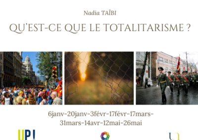 Nadia TAIBI Qu'est-ce que le totalitarisme